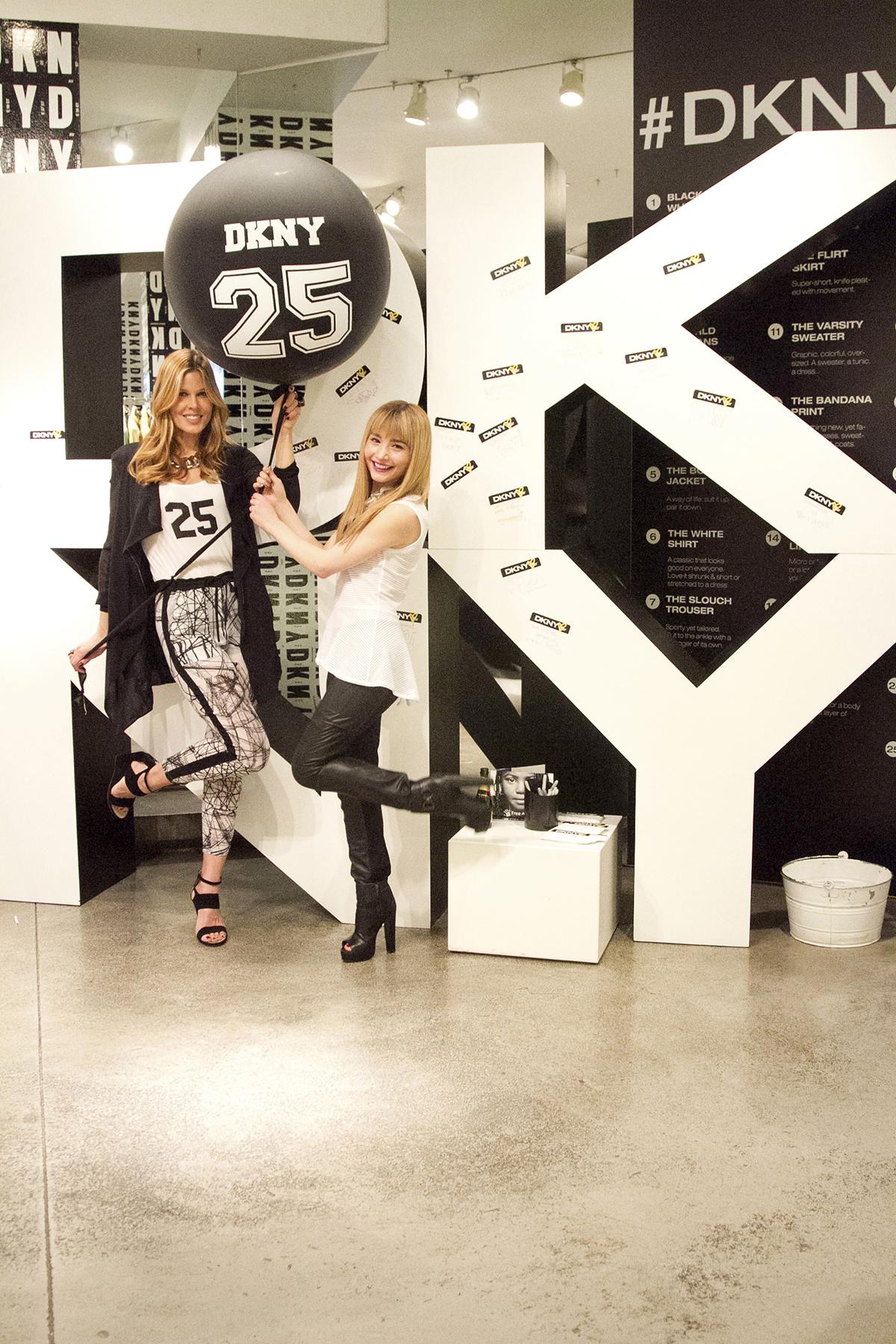 Having fun celebrating DKNY's 25th Birthday with Fashion/Beauty Expert Mary Alice Stephenson.