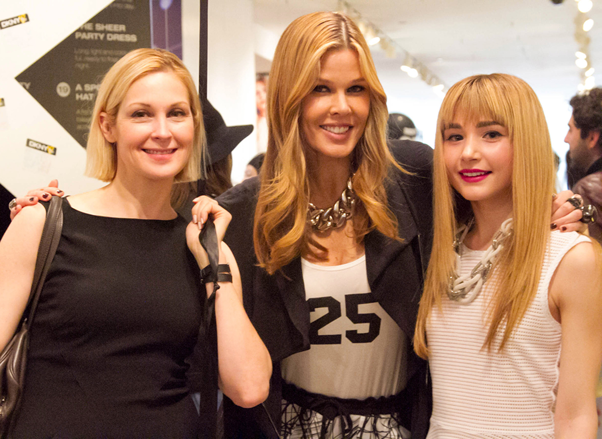 With Free Arts NYC Supporters, (from left) Actress Kelly Rutherford and Fashion/Beauty Expert Mary Alice Stephenson.