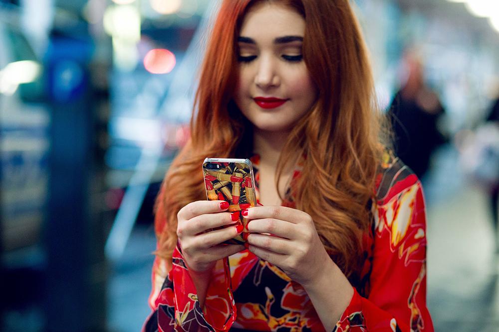 Rachel's Stylish Life_ZGLA Crimson iPhone Case
